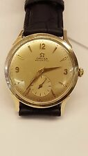VINTAGE 1955 CLASSIC MEN'S OMEGA AUTOMATIC MOVEMENT WRIST WATCH 14K GOLD FILLED
