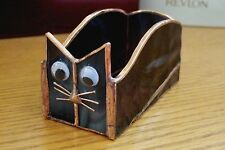 Handmade Stained Glass BOX (Business Card Holder) CAT (BXC36)