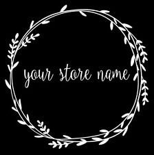 Custom Business Sign Decal - Custom Glass wall Decal - Your Shop Name and slogan