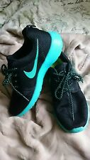Nike black size 4.5 trainers running shoes womens unisex turquoise