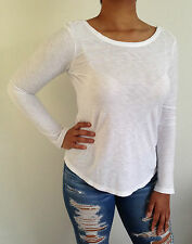 James Perse Knit Top Long Sleeve Size 1,2,3 NWT $115