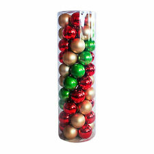 Christmas Baubles Ball Red Gold & Green 45 Balls Wedding Party tree 60 70 80mm