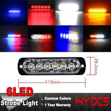 6LED Car Truck Police Strobe Flash Lightbar Dash Emergency 17 Flashing Light