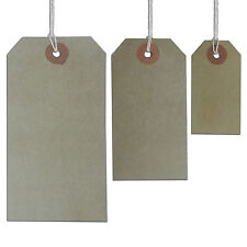 Quality Brown Pre Strung Price Tags Manilla Pre-Strung Tags  Luggage Tags
