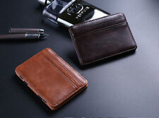 Mens Magic Wallet Synthetic leather Slim Money Clip Credit Card Holder Best