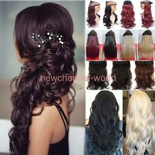 """17""""-26""""Long New Women Hair Extensions Wavy Curly/Straight Real Thick Clip in on"""