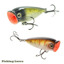 Cabo Multi Colored Peeping Popper Minnow for Freshwater Fishing Lure