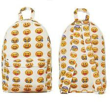 Cute Smiley Fangirl Emoji Backpack Funny Satchel Shoulders Bag Schoolbag Bookbag