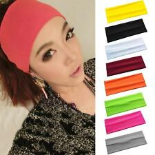 5PCS Fashion Wide Headbands Sports Workouts Bolder Brighter Colors Bands