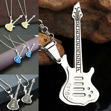 Men Womens Special Stainless Steel Guitar Pendant Jewelry For Necklace Chain New