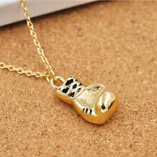 Fashion Mini Boxing Glove Pendant Necklace Jewelry Cool Necklaces for Men Boy CA