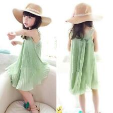 Fashion Kids Baby Girls Chiffon Princess Sleeveless TuTu Dress Sundress Skirts