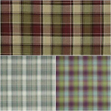 SMD iLiv Tartan Check Argyle Upholstery Curtain Fabric - Natural Mulberry Claret