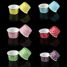 20 Pcs Mini Paper Cake Cup Liners Baking Cupcake Cases Muffin Cake Colorful AA20