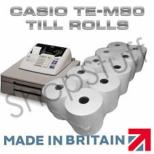 TILL ROLLS TO FIT Casio TE-M80 TEM80 TEM-80 Cash Register