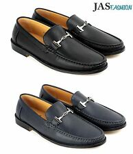 Mens Driving Slip On Shoes Casual Loafers Smart Leather Moccasin Size 6-12 NEW