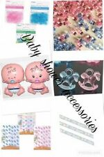 BABY SHOWER ACCESSORIES  PARTY PINK BLUE UNISEX DECORATIONS CONFETTI MUM SASH