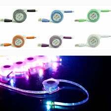 For iphone,ipad Retractable LED Light,USB Micro Charger Changing Data Sync Cable