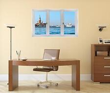 Window Landscape View VENICE ITALY SKYLINE DAY #1 Wall Sticker Art Decal Graphic