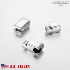 Wholesale Stainless Steel Magnetic Clasp Triple Glue End 30x8mm Fit 4mm Dia Cord