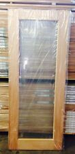 1 Lite Clear Toughen Glass SOLID Mahogany Timber Door MANY SIZES + CUSTOM ORDER