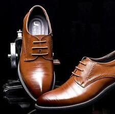 New Fashion Men Formal Wedding 4Color Oxfords Dress Leather Shoes #WING TIP