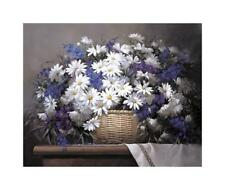 Daisies and Delphiniums Giclee Print by Santos, Victor