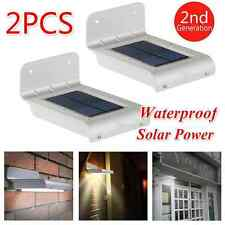 2PC 16 LED Solar Power Motion Sensor Security Lamp Outdoor Waterproof Light B