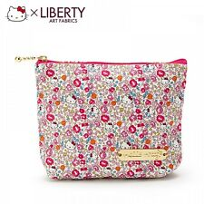 Hello Kitty x LIBERTY Makeup Tissue Pouch Cosmetic Case Bag Purse Japan S5503