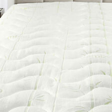 Plush Bamboo Jacquard Mattress Pad Super Soft & Cool To The Touch-Hypoallergenic