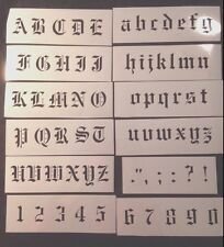 painting STENCIL Old English font alphabet LETTERS and NUMBERS incl Scandinavian