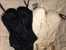 NWT Maidenform Easy Up Strapless Firm Control Bodybriefer 36D 40C 36DD