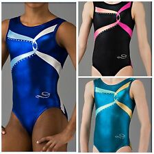 NWT Dreamlight Swirl Foil Mystique Rhinestones Competition Gymnastics Leotard
