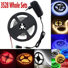 3528 SMD 5M 300leds LED Flexible Strip Light +2A Power + Free DC Whole Sets
