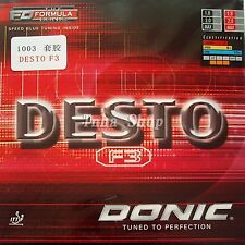 Donic DESTO F3 Pips-In Table Tennis Rubber with Sponge