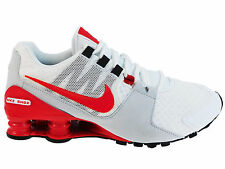 NEW MENS NIKE SHOX AVENUE RUNNING SHOES TRAINERS WHITE / ACTION RED / PURE PLATI