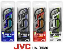 JVC HA-EBR80 In-Ear Clip Sport Headphones Headset Mic/Remote Android iPhone iPod