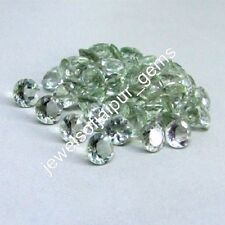 Natural Green Amethyst Round Cut Calibrated Size 4mm - 18mm Loose Gemstone