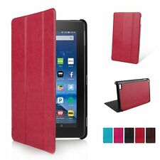 Faux Leather Smart Case Cover Skin Stand for Amazon Kindle Fire HD 7 8 10 2015