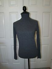 Pre Owned Vince Skinny Rib Turtleneck Sweater Charcoal Gray (Size: S)