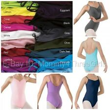 NEW Capezio Balera Pinch Front V Dance Camisole Leotard Many Colors Child Adult