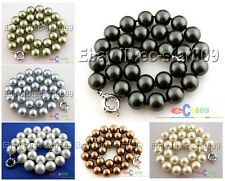 "D0130 18"" 14MM ROUND SOUTH SEA SHELL PEARL NECKLACE"