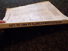 HARLEY 1971 To 1984 FX Models Parts Catalog/Official Factory Manual 13160 95