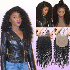 Brazilian Virgin Human Hair 4×4 Kinky Curly Silk Base Closures With Baby Hair