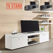 TV Cabinet Stand Unit Plasma Bench w/ 2 Doors 2 Shelves Living Room 3 Colours