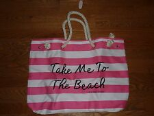 VICTORIAS SECRET TOTE BAG CARRYALL GYM BEACH BAG LARGE NWT