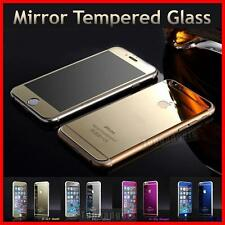 Mirror Tempered Glass Screen Protector iPhone 4/5/6/6 Plus Front Back Set