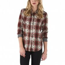 New VANS Womens Bootheel Flannel Button Shirt flame white sand XS S M L XL plaid