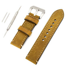 Genuine Leather 24mm 22mm 20mm Watchband Watch Band Strap Wristwatch Band + Lug