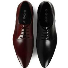 New Men's pointed toe oxfords cowhide dress formal shoes lace up black or brown#